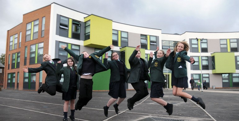 School pupils celebrate