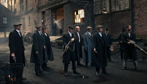 Peaky Blinders gang in Stanley Dock