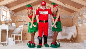 SantaAndElves grotto crossed arms