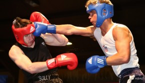 9 ADAM FARRELL 75KG SALISBURY ABC LIVERPOOL ( BLUE ) WON V FELIX CASH 75KG GUILDFORD CITY EVERSLEY ( RED )