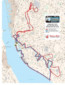 Marathon course map 2013