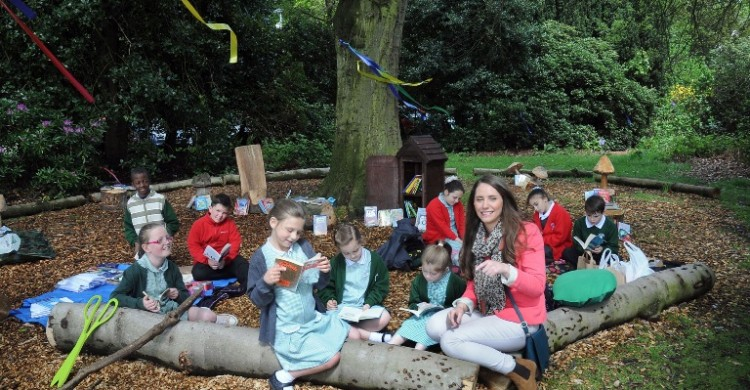Councillor Lana Orr at the launch of the Reading Space at Croxteth Park