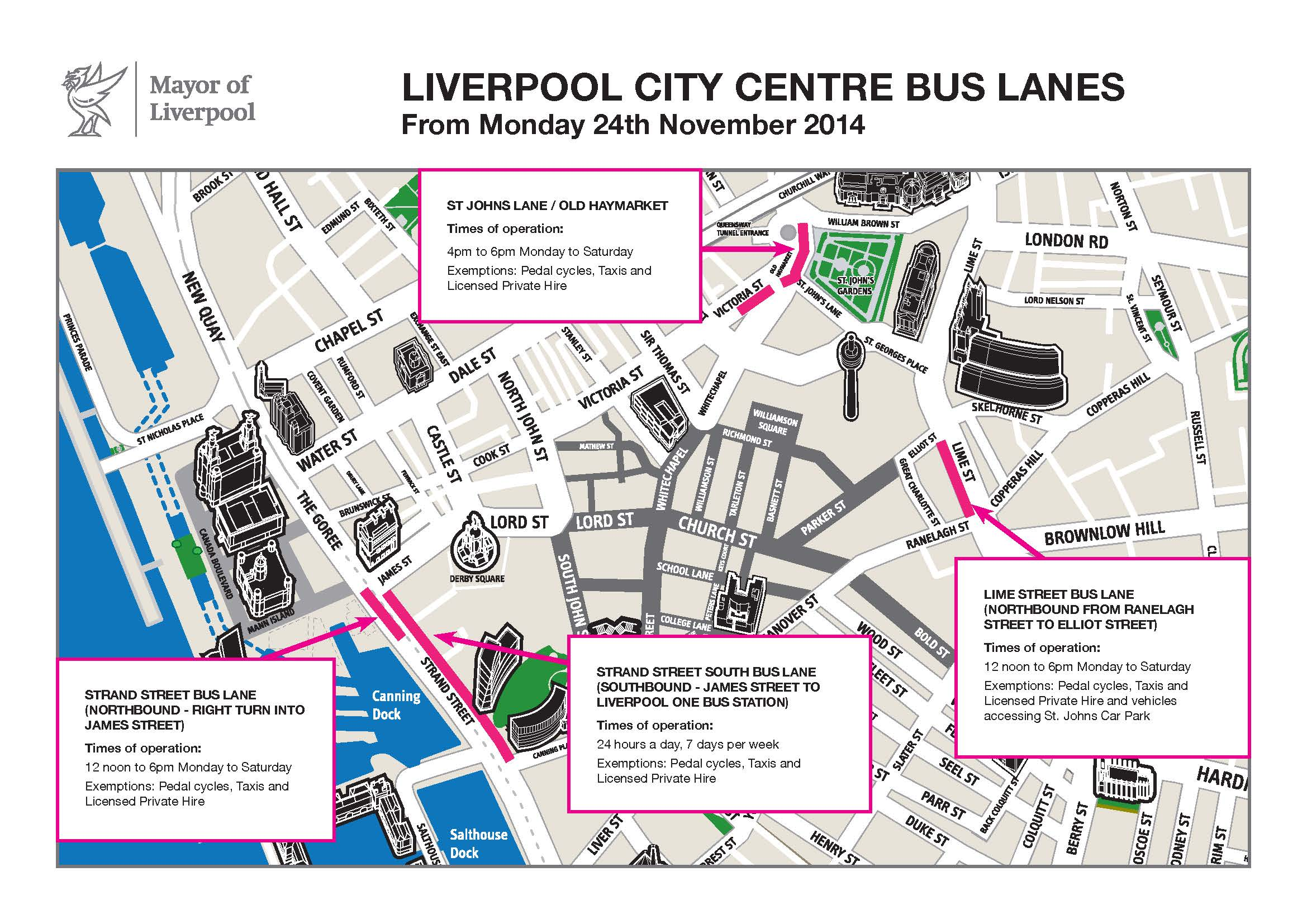 Four bus lanes back in operation from 24 November Liverpool Express