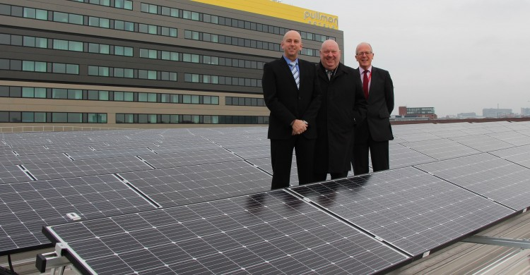 L-R Brian Gladwin, Eon; Mayor of Liverpool Joe Anderson; Gerald Andrews The ACC Liverpool Group