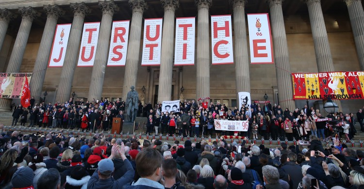 Hillsborough Vigil at St Georges Plateau in Liverpool.Images by Gareth Jones