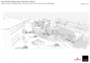 Artist's impression Beechley House, Summer House and Stables