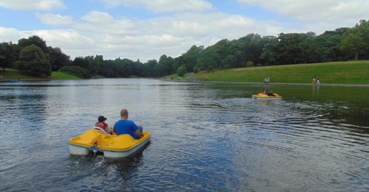 Pedalos at Sefton Park