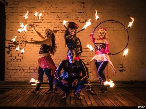 Bring the Fire, who will be entertaining crowds in Liverpool and Birkenhead