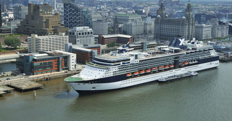 Celebrity Infinity at the cruise liner terminal