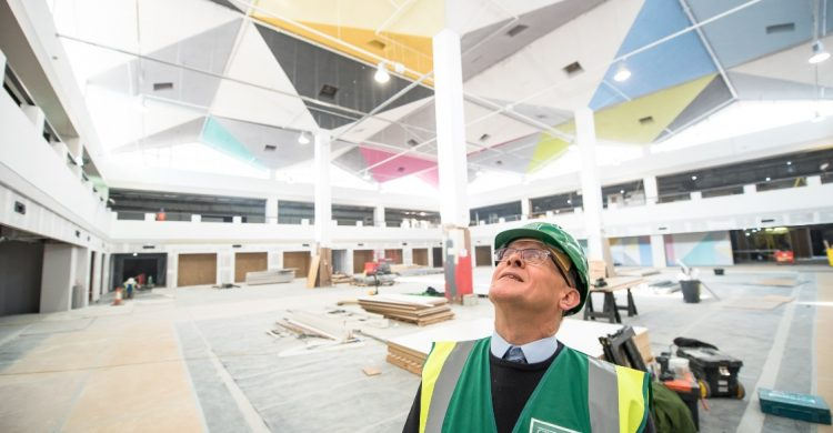 Cllr Malcolm Kennedy inspects new look St Johns Market