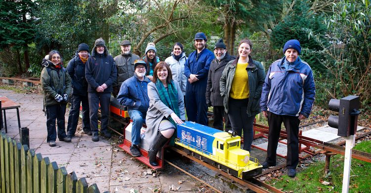 Deputy Mayor Cllr Ann O'Byrne with members of Merseyside Live Steam and Model Engineers club 2