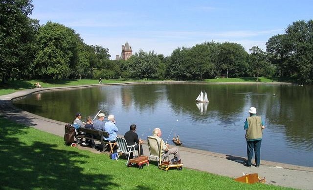 Lake at Newsham Park