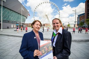 L-R Cheryl Danson, Chairman of England Netball; Clare Briegal, Chief Executive Officer of the INF