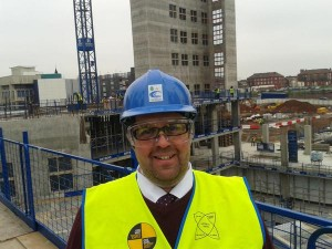 Cllr Nick Small on site at the new Royal Liverpool Hospital