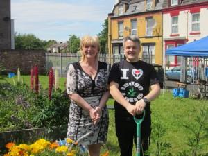 Deputy Mayor Cllr Ann O'Byrne and Cllr Jamie Roberts at Fern Grove