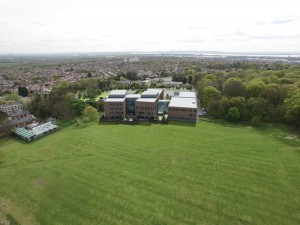 Aerial shot of the new St Julie's
