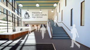 Entrance of the new St Julie's