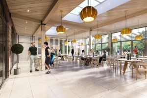 Proposed interior of Allerton Golf Course clubhouse