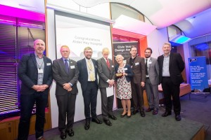 Representatives from Civic Voice and Friends of Springfield Park at the awards ceremony