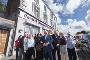 Liverpool City Council Mayor Joe Anderson visits the new Central Credit Union premises.