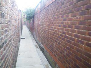 Rear alleyway after