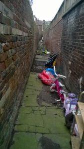 Rear alleyway before