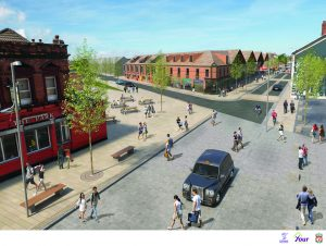 Artists impression of the new-look High Street