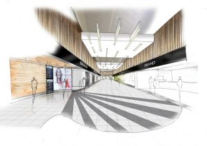 Artist's impression of part of the refurbished and upgraded 3rd floor retail area.