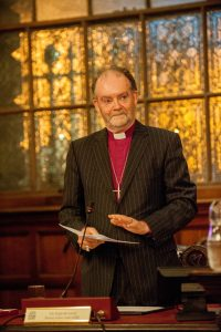 The Right Reverend James Jones KBE making his acceptance speech for the Freedom of Liverpool